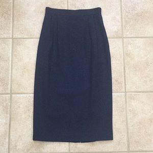 Talbots Pure Wool Pleated Lined Midi Skirt Vintage